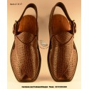 A/C Hand Made Peshawari Chappal - Choclate Brown