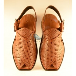 A/C Hand Made Peshawari Chappal - Maroonish Brown