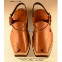 Kaptaan Chappal - Shaded Brown