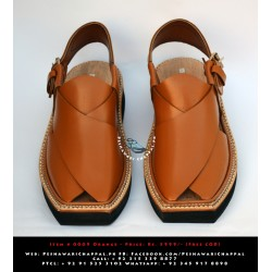Imran Khan Chappal Full Leather - Plain Golden